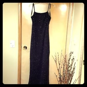Cache sz 8 long beaded dress